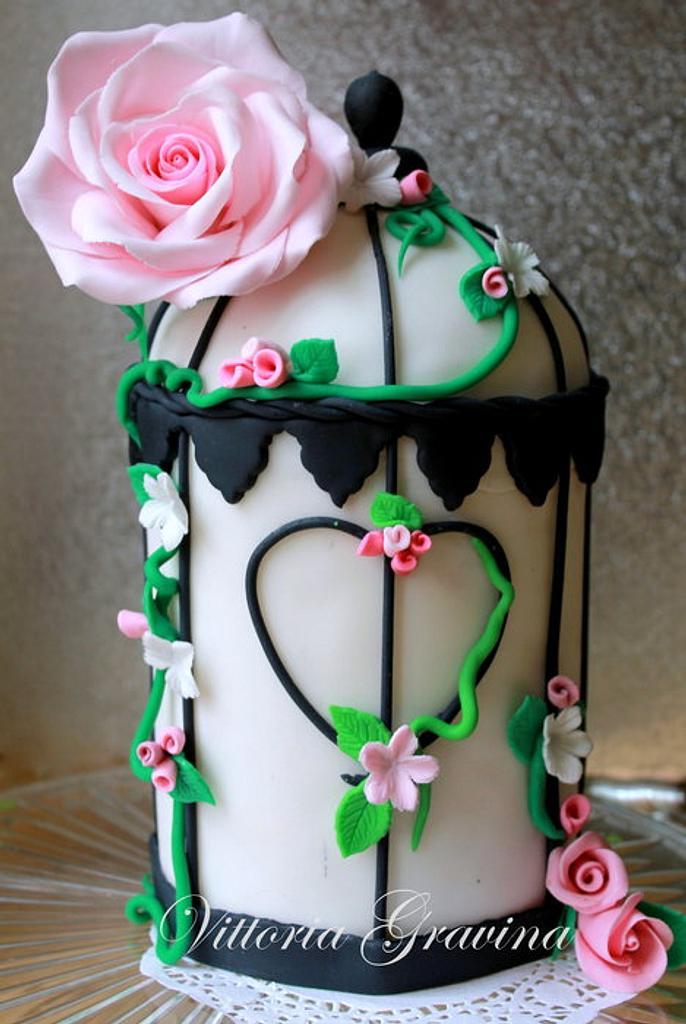 Birdcage cake by Vittoria