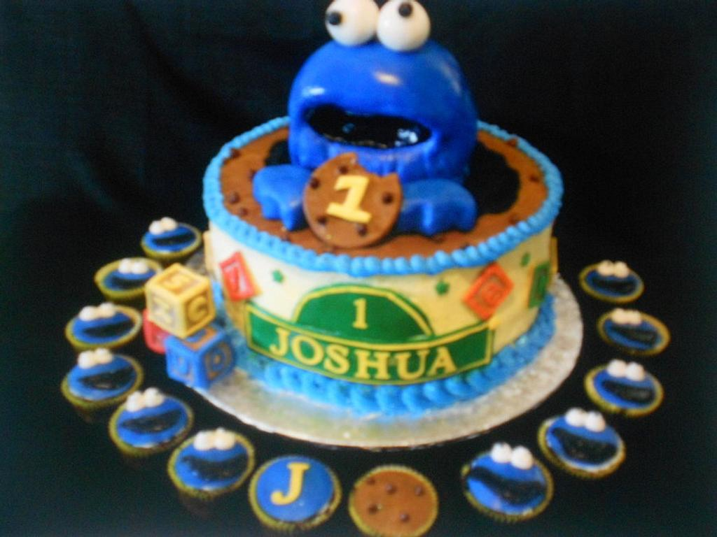 Cookie Monster Cake by Maria Cazarez Cakes and Sugar Art