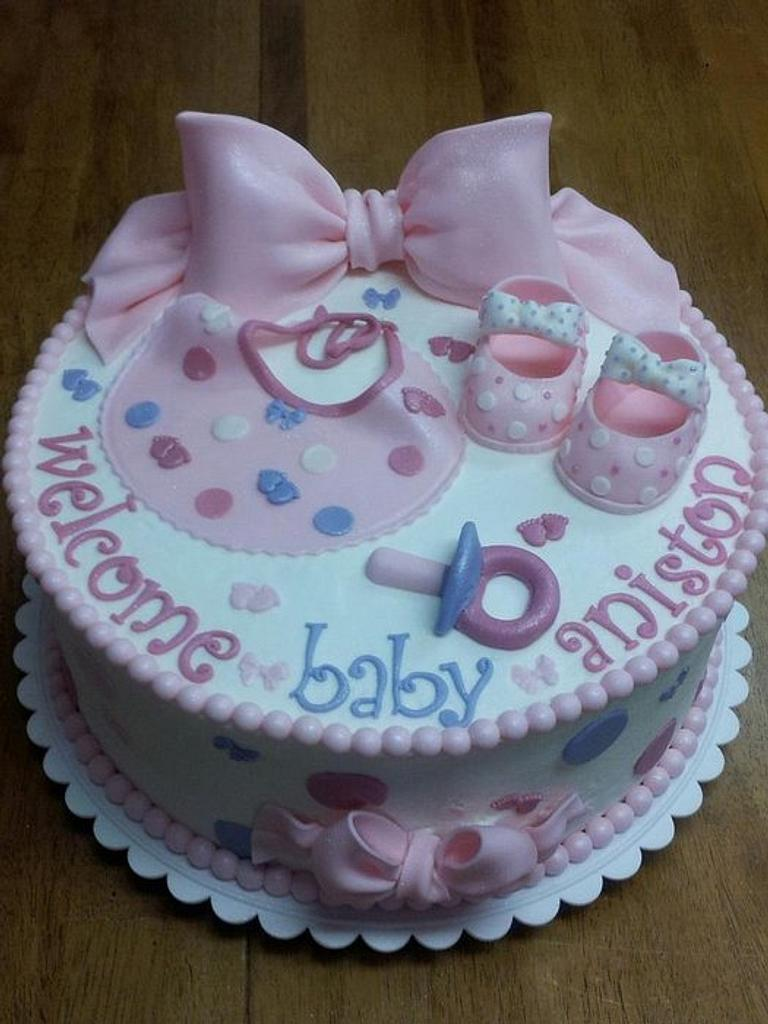 Girl Baby Shower Cake by Peggy