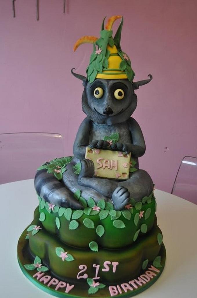 King Julian cake by Susie