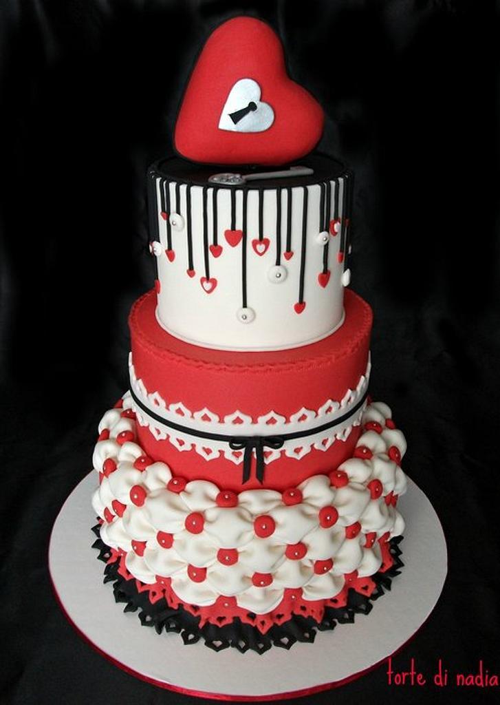S. Valentine cake by tortedinadia