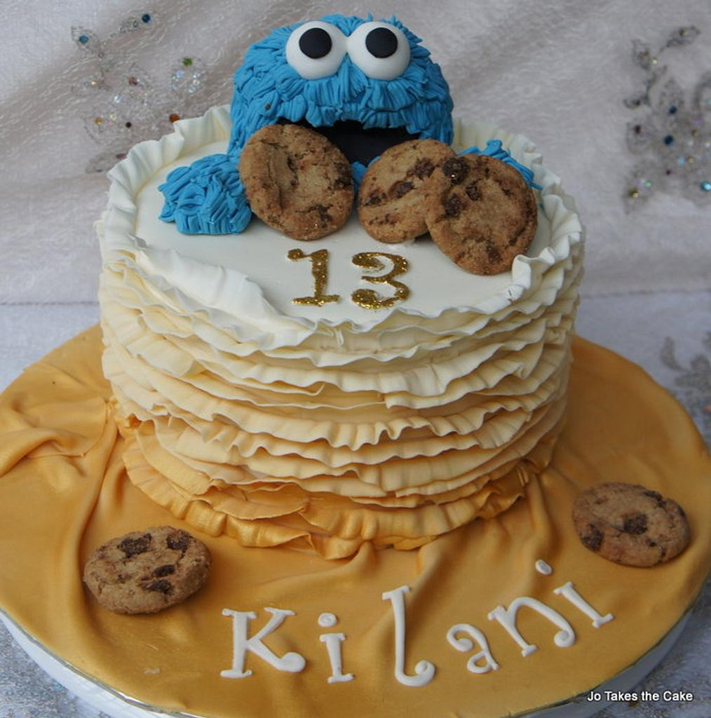 Cookie Monster Ruffles by Jo Finlayson (Jo Takes the Cake)
