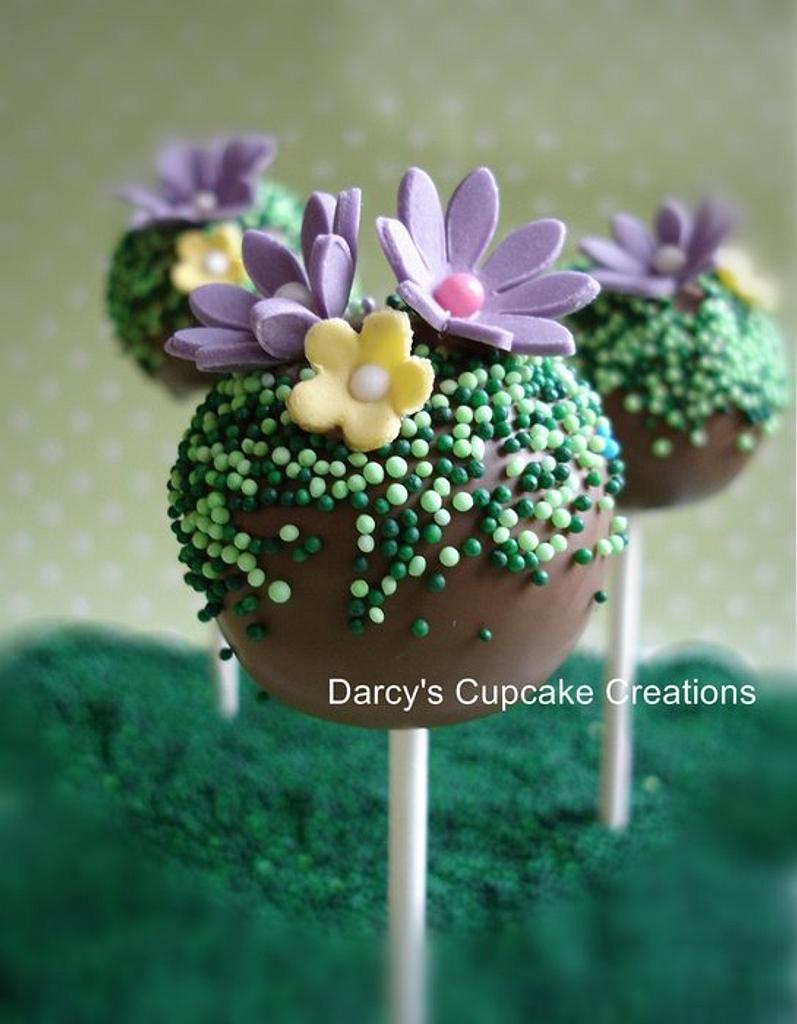 Spring cake pop by DarcysCupcakes