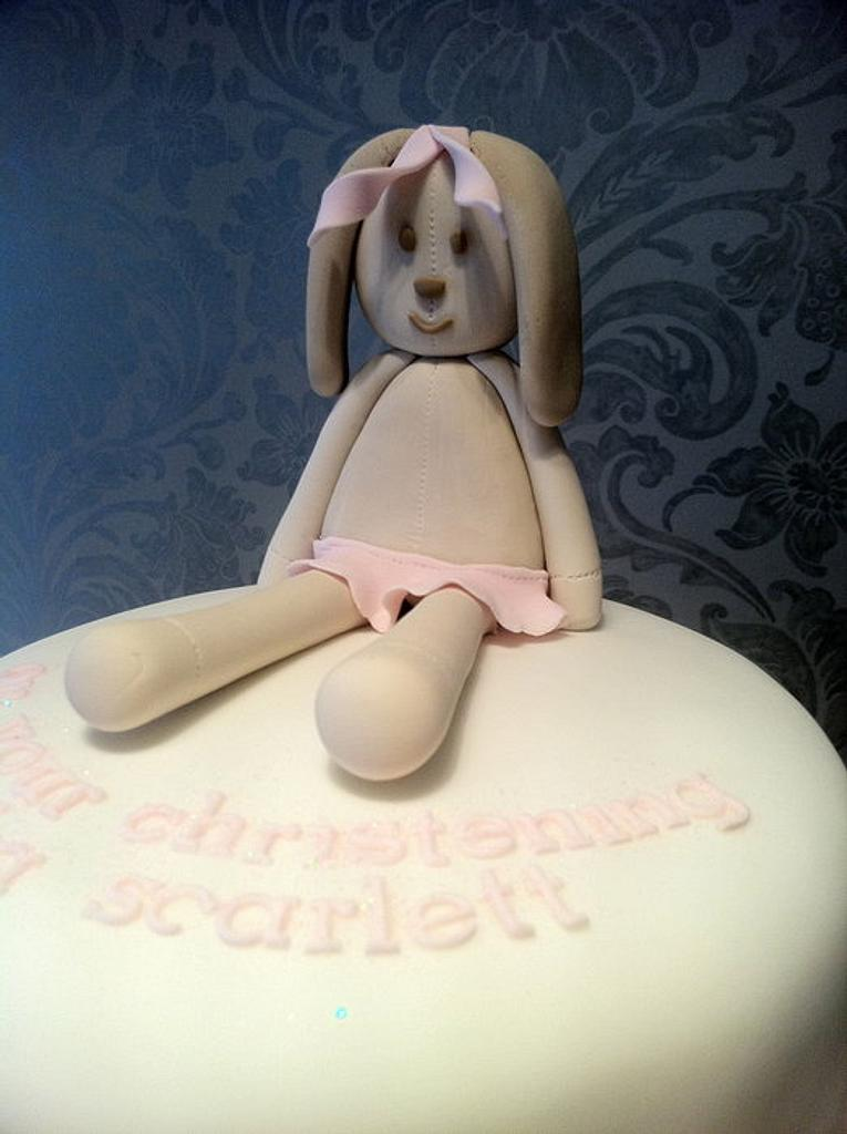 Rabbit Christening Cake by Nina Stokes