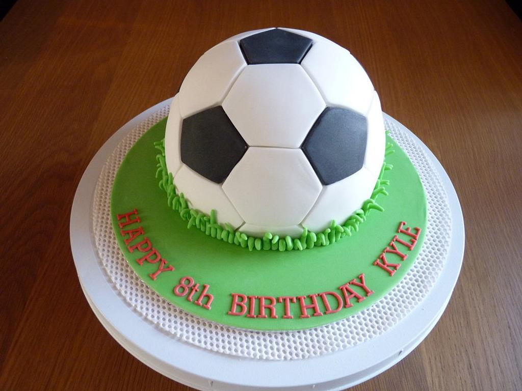 Football Birthday Cake. by Sharon Todd