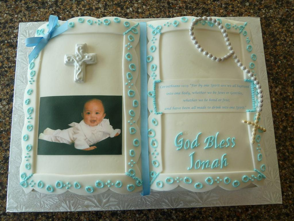 Baptism Bible Cake by JB