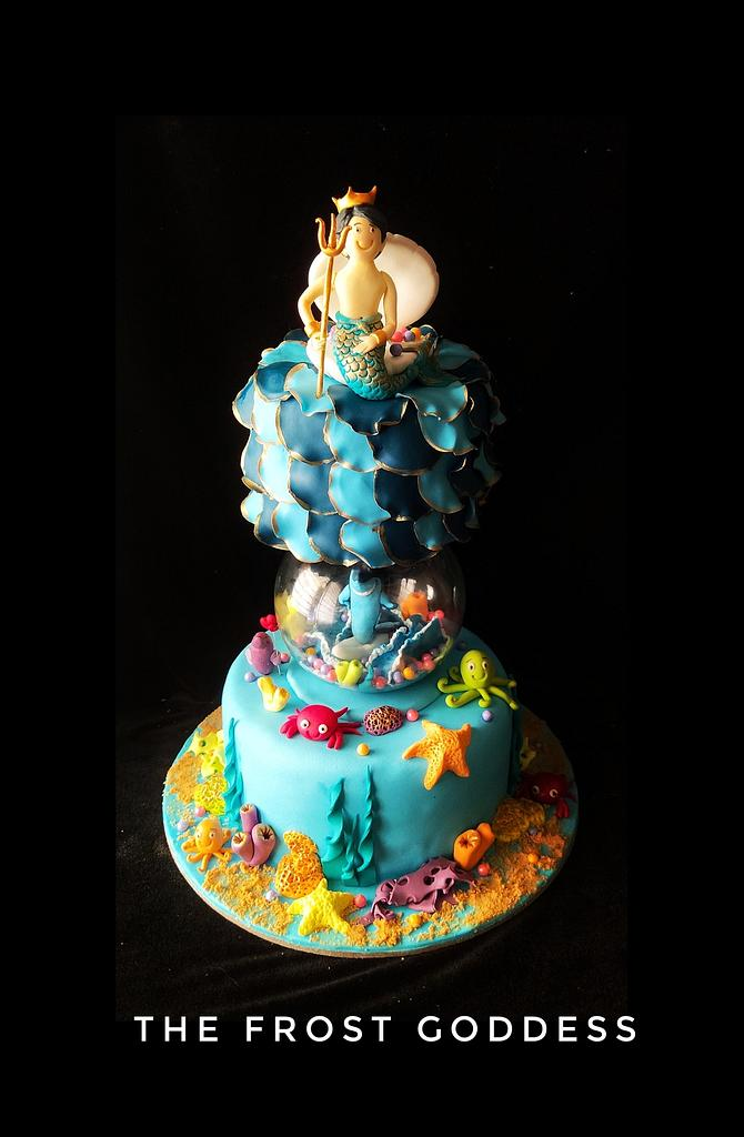 Undersea themed cake by thefrostgoddess