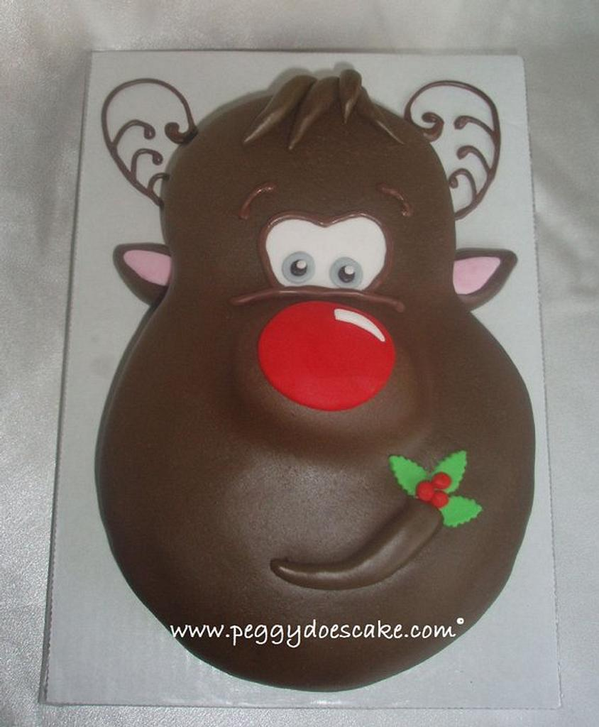 Rudolph Cake by Peggy Does Cake
