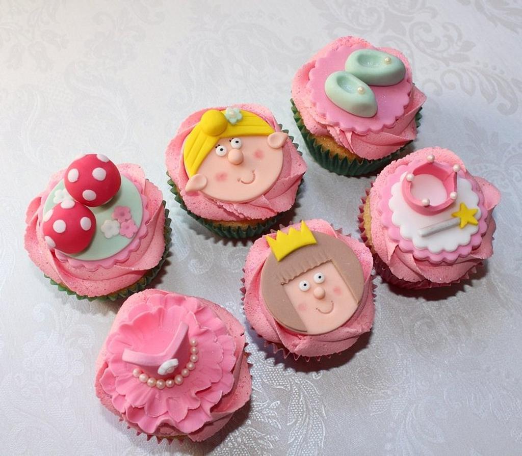 Tinkerbell and Princess Cupcakes by ClarasYummyCupcakes