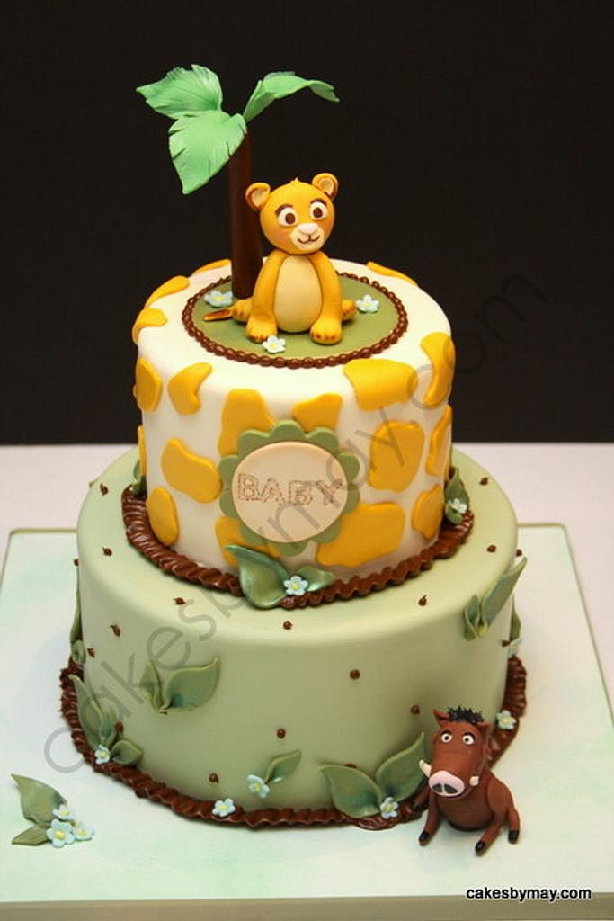 Simba Lion King Baby Shower Cake by Cakes by Maylene