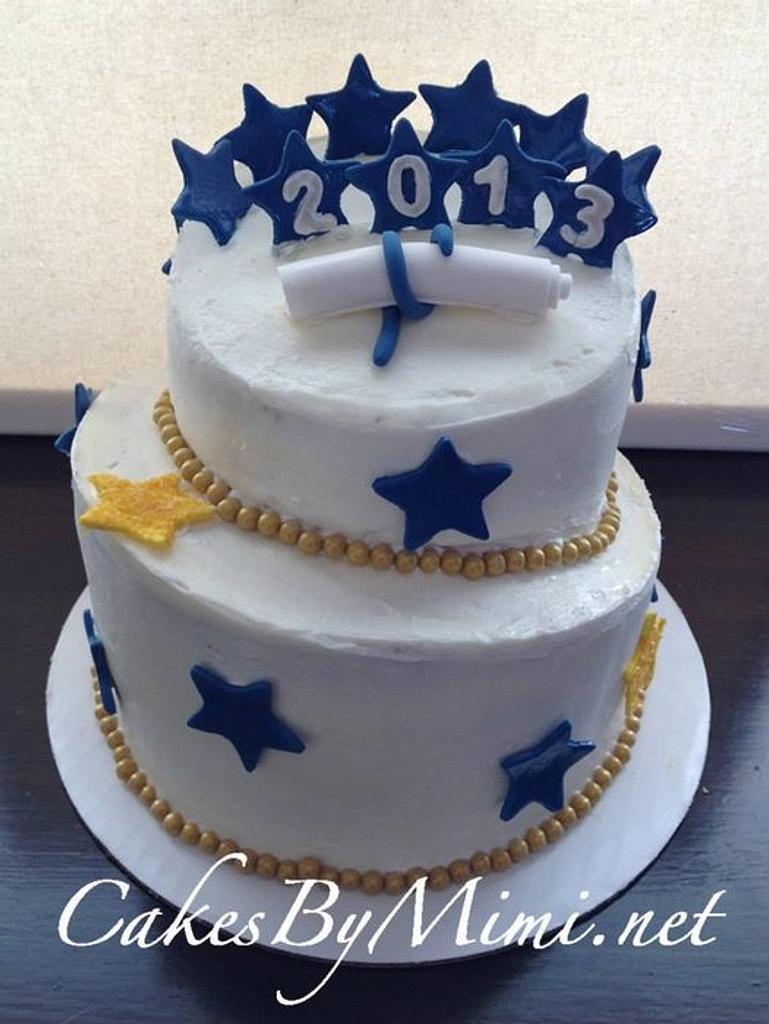 Topsy Turvy Graduation Cake by Emily Herrington