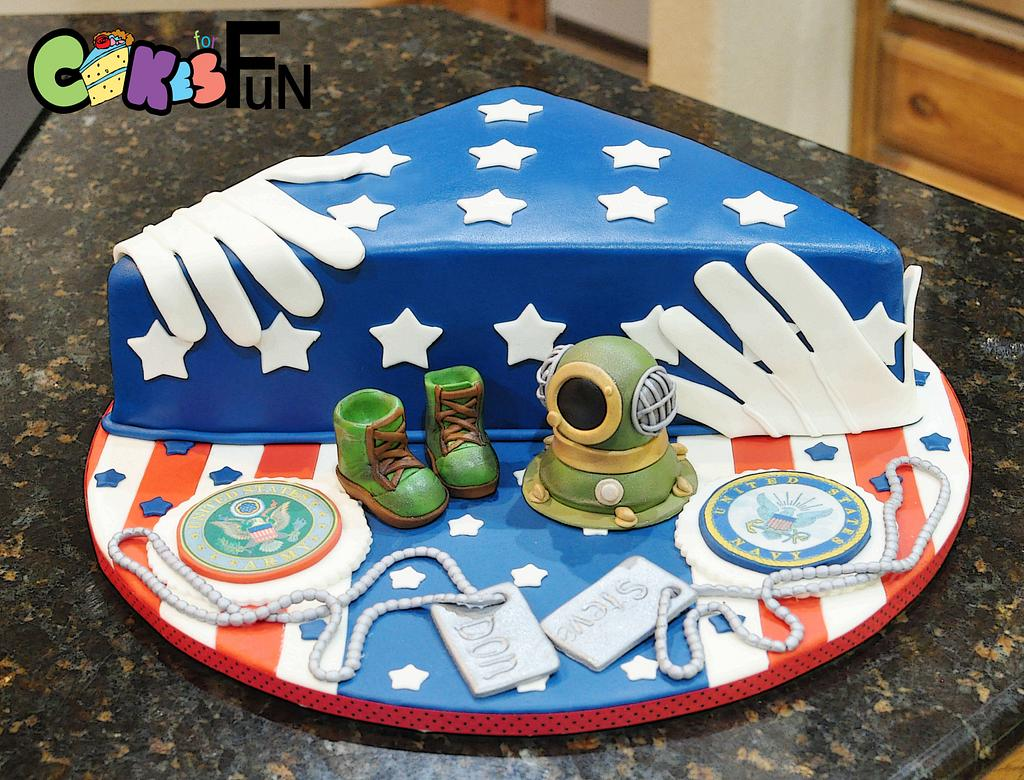 Memorial Day Cake by Cakes For Fun