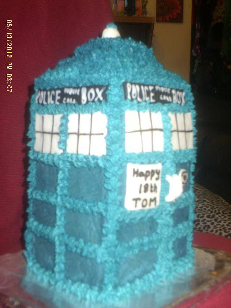 My first Tardis cake by Marianne Barnes