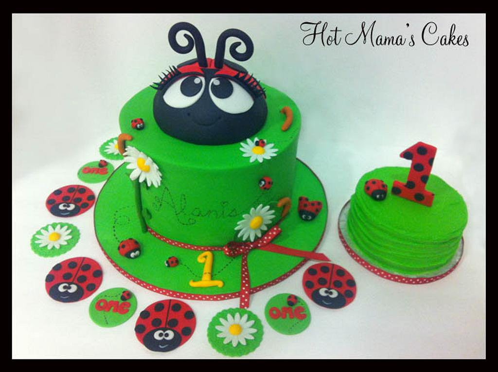 Ladybug First Birthday! by Hot Mama's Cakes