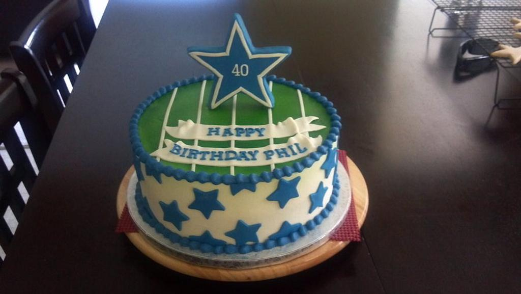 Dallas Birthday Cake  by Pixie Dust Cake Designs