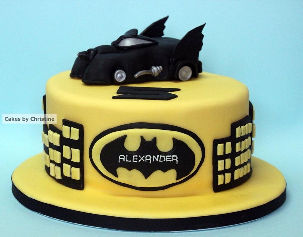 Batmobile Cake by Cakes by Christine