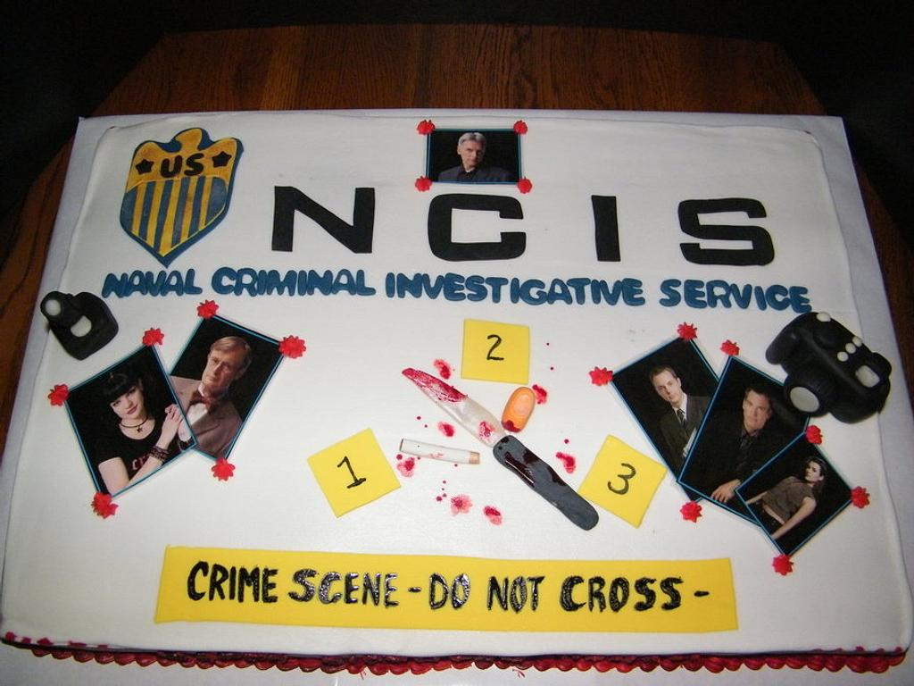NCIS Birthday Cake by Judy Remaly