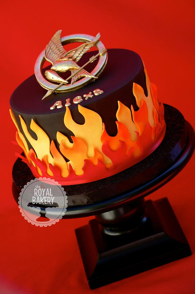 Hunger Games Cake on Fire! by Lesley Wright