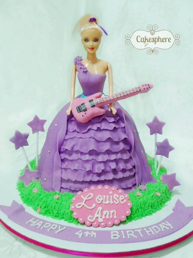 Popstar Keira Barbie Cake by Cakesphere