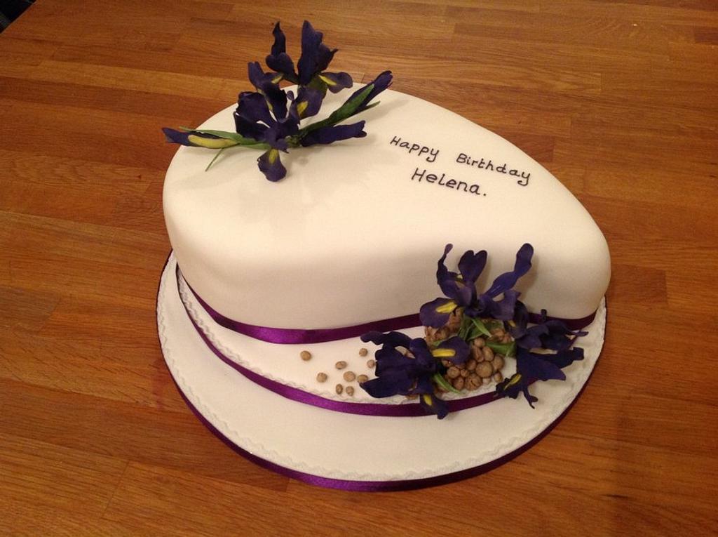 Iris birthday cake by Iced Images Cakes (Karen Ker)