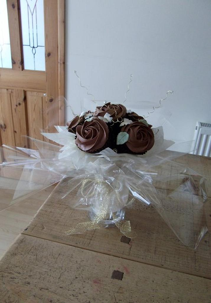 Chocolate Cupcake Bouquet by Claire G