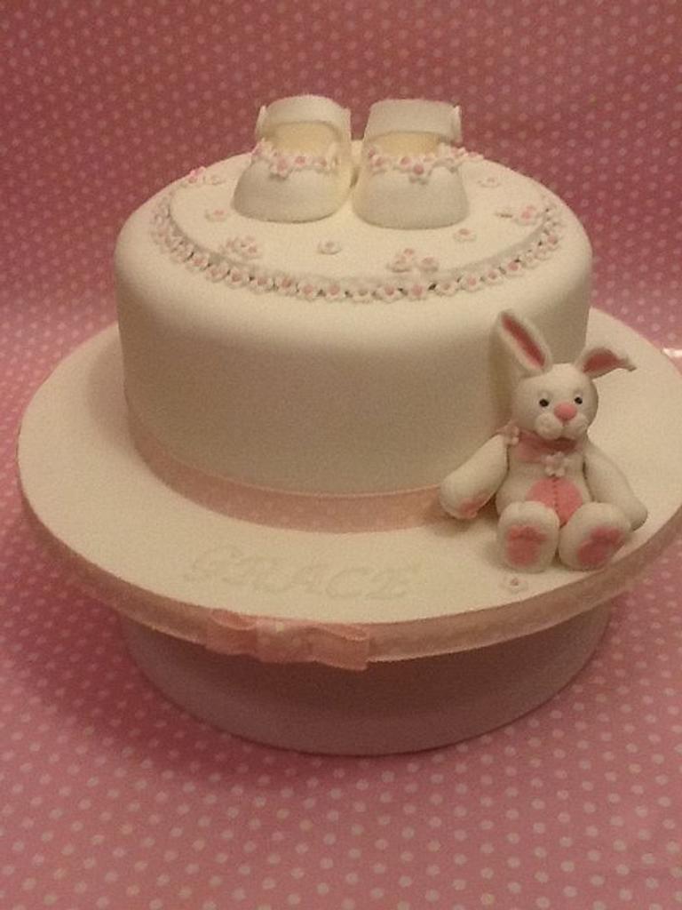 Grace's Christening Cake by K Cakes