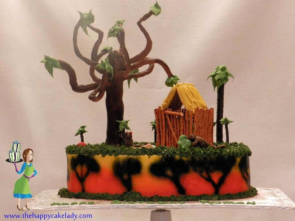 Bush Baby - inspired cake by Jaclyn