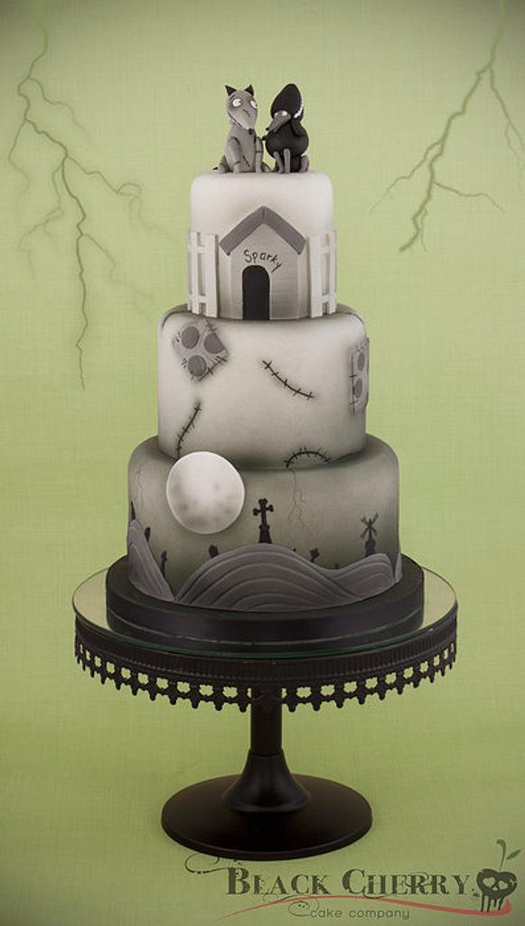Frankenweenie Cake by Little Cherry