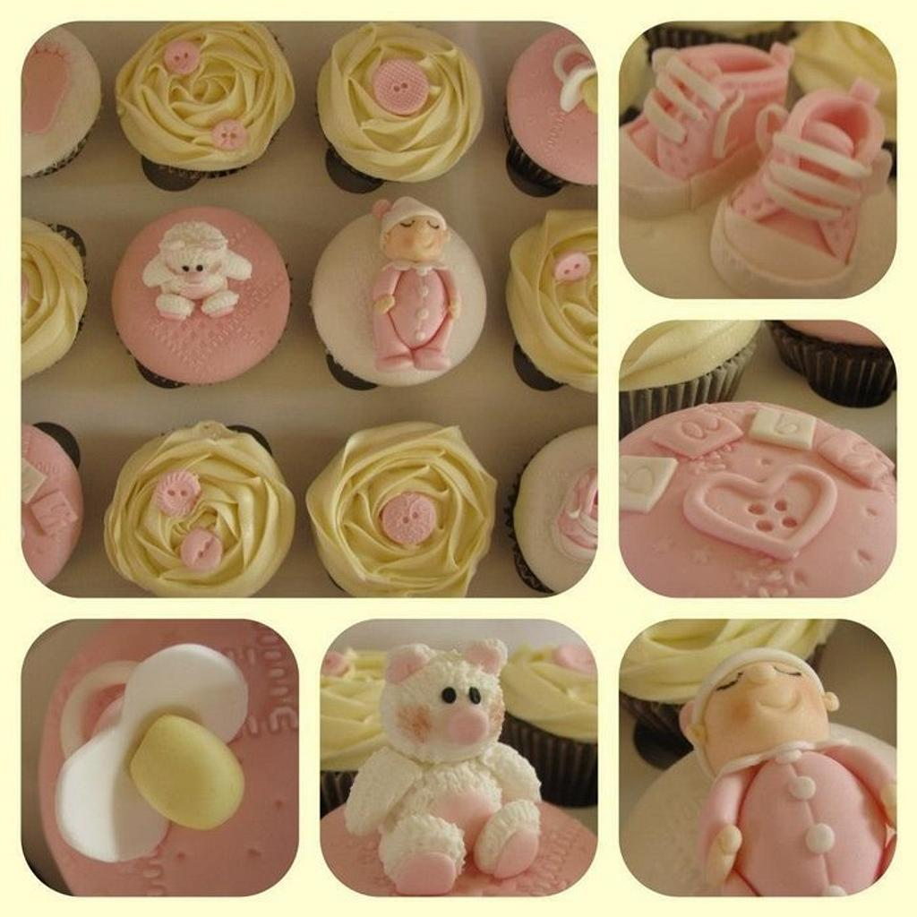 Baby shower cupcakes by sarah