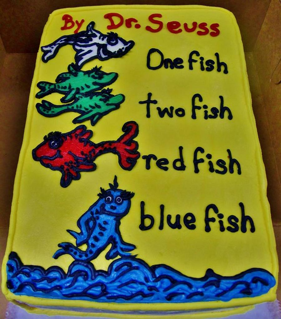 Dr. Seuss book cake (ALL ButterCream) by Nancys Fancys Cakes & Catering (Nancy Goolsby)