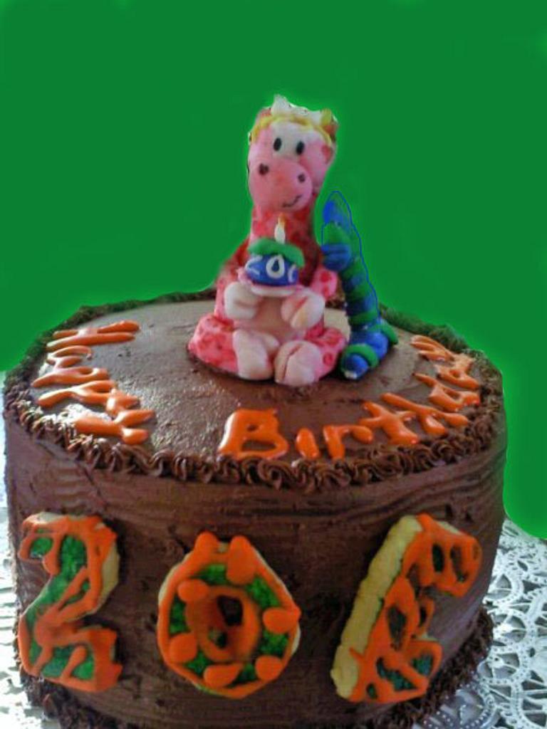 Giraffe Triple Chocolate Cake by Erin Blodgett