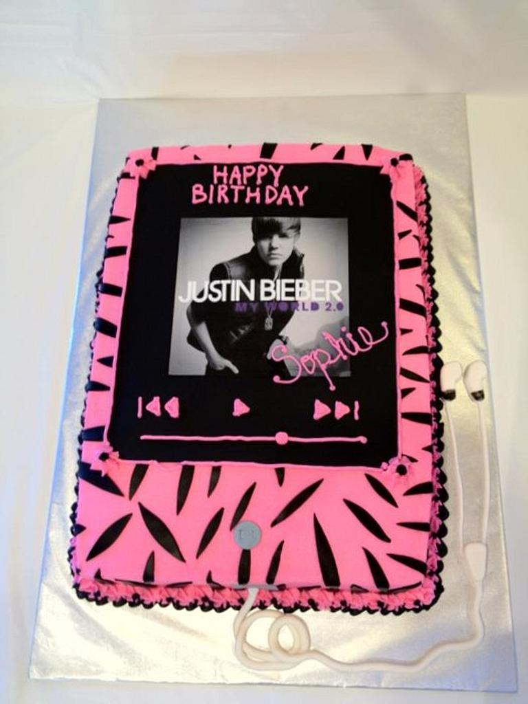Justin Bieber Zebra Ipod by Dawn Henderson