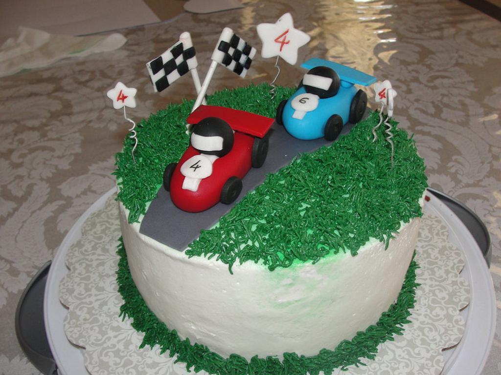 Race car cake by Cakes and Beyond by Naheed
