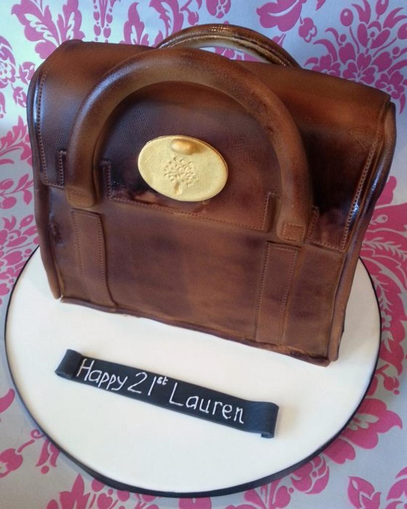 Mulberry handbag cake by That Cake Lady
