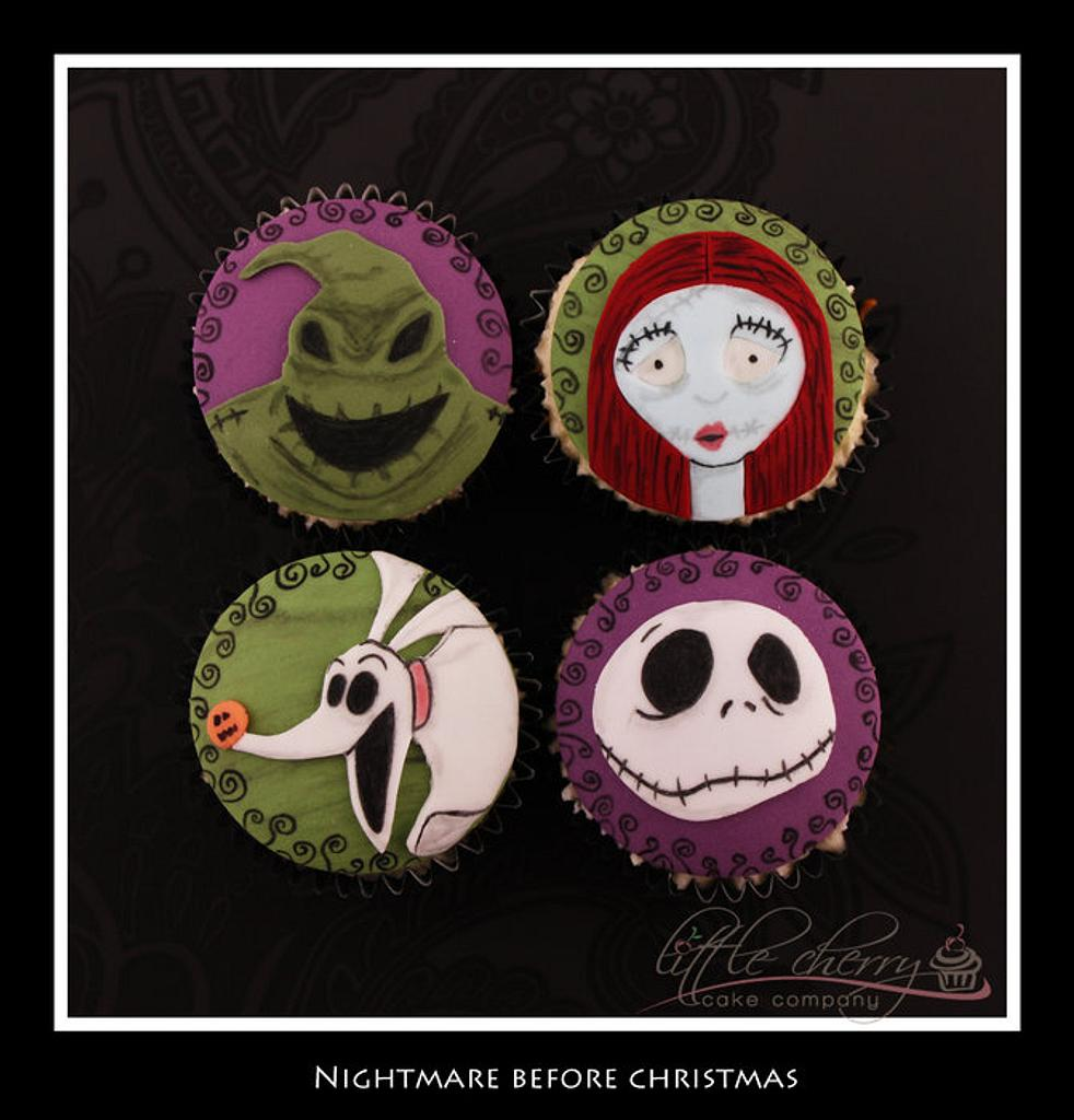 Nightmare Before Christmas Cupcakes by Little Cherry