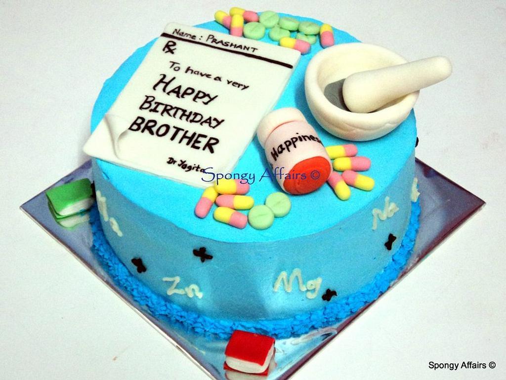 Pharmacy themed cake by Meenakshi Jamadagni