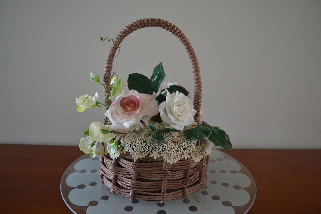 Basket with Roses  by Elisabeth