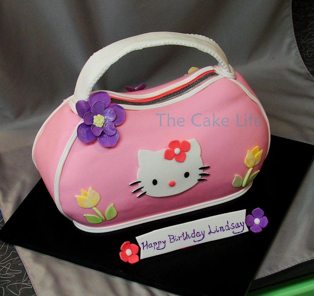 Hello Kitty purse cake by The Cake Life