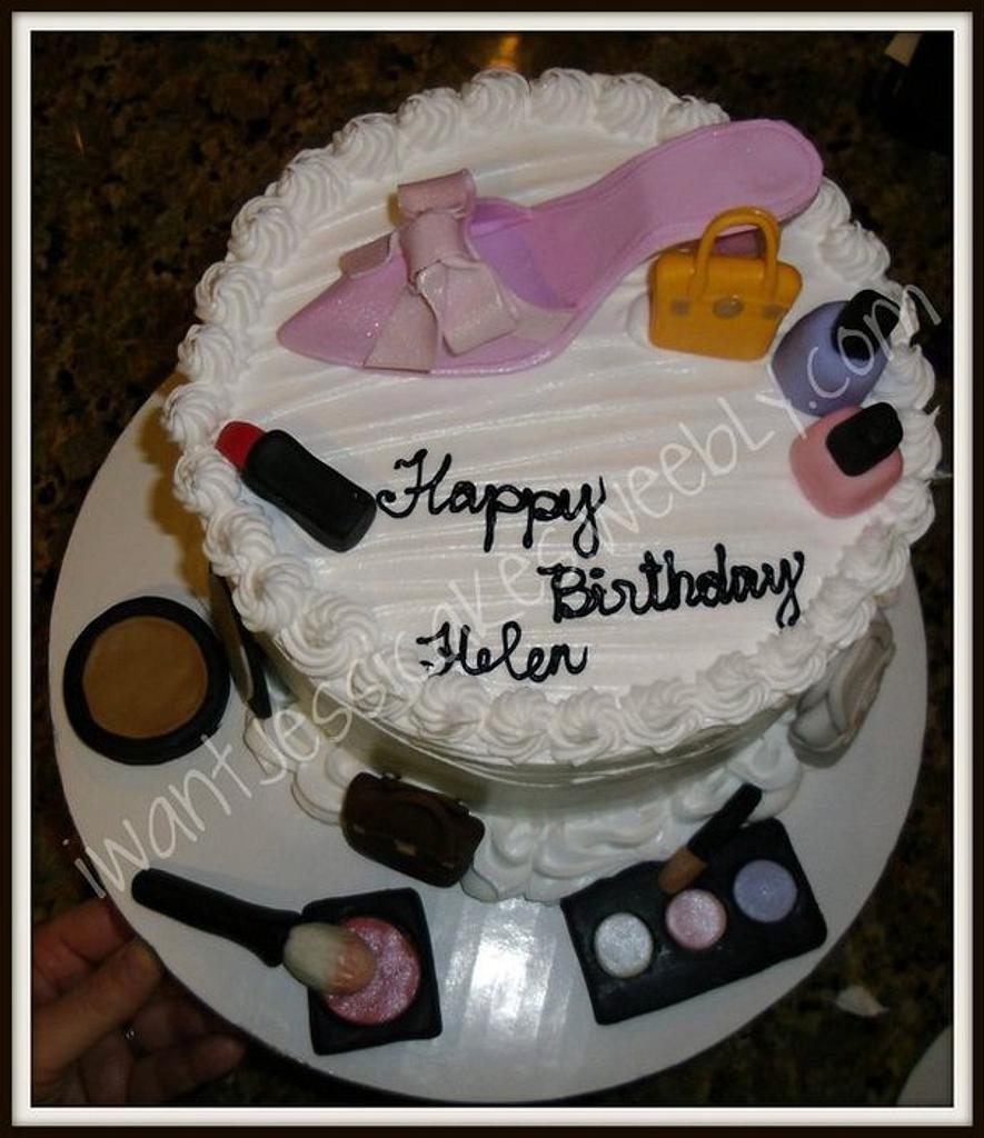 Shoe & Makeup cake by Jessica Chase Avila