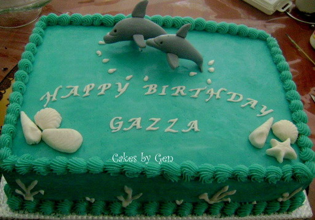 Dolphin Cake by Gen
