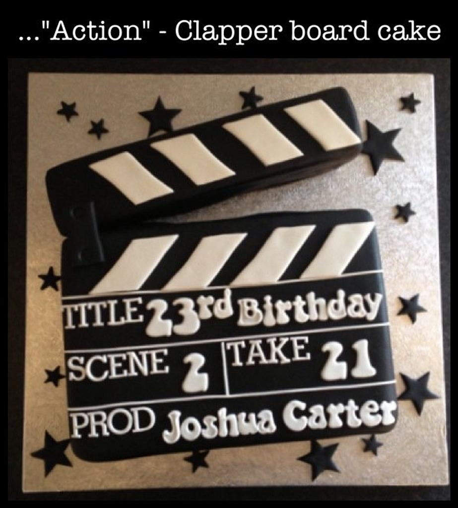 Clapper board cake by Sugar Sweet Cakes