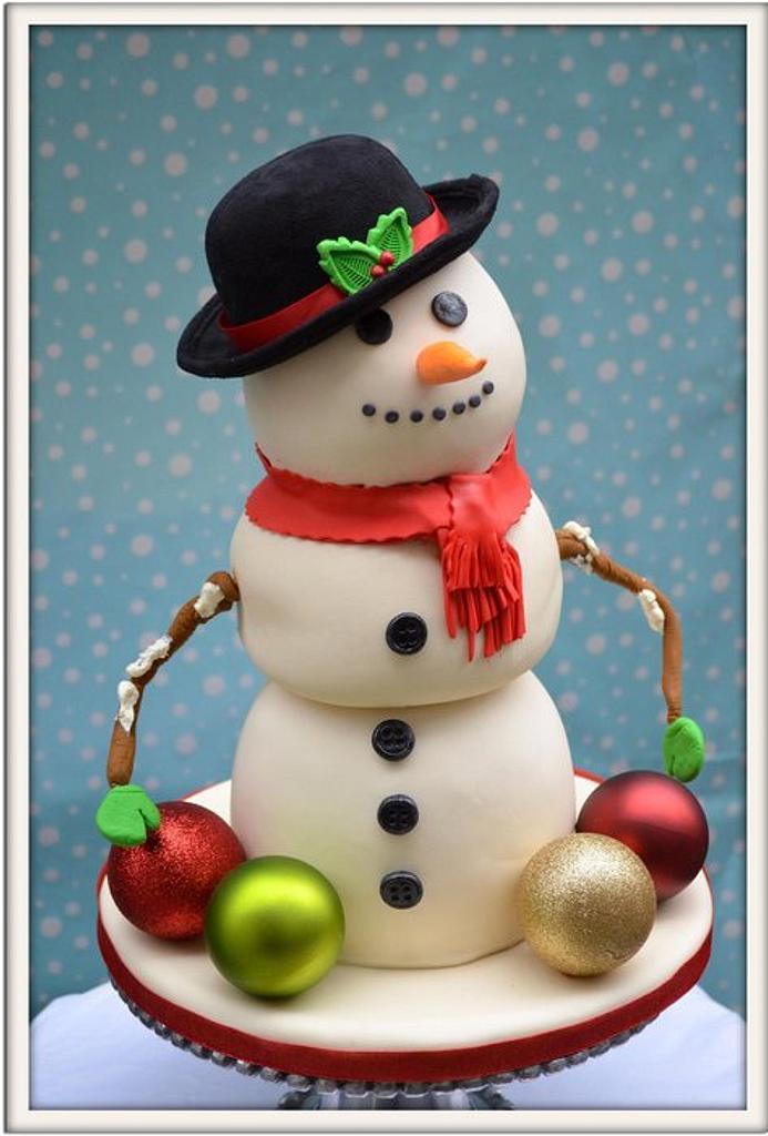 Snowman Birthday Cake by Heidi