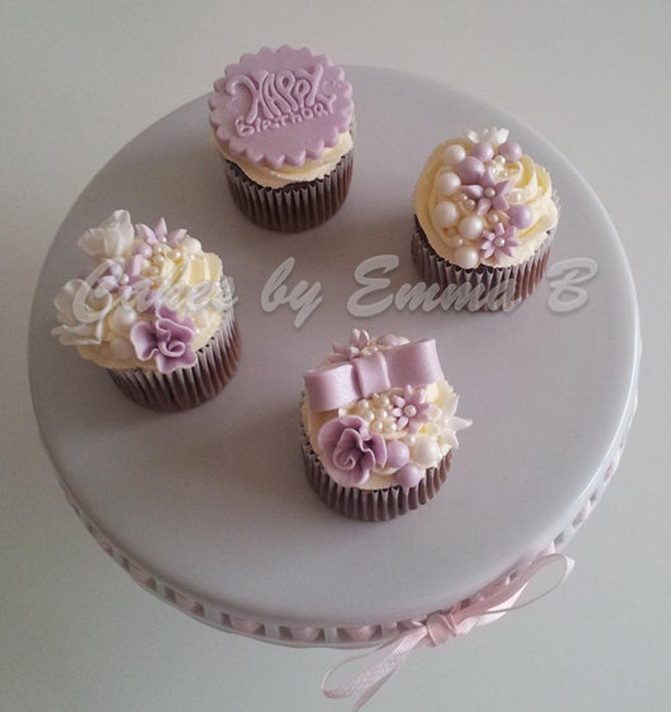 Shades of Purple Cupcakes by CakesByEmmaB