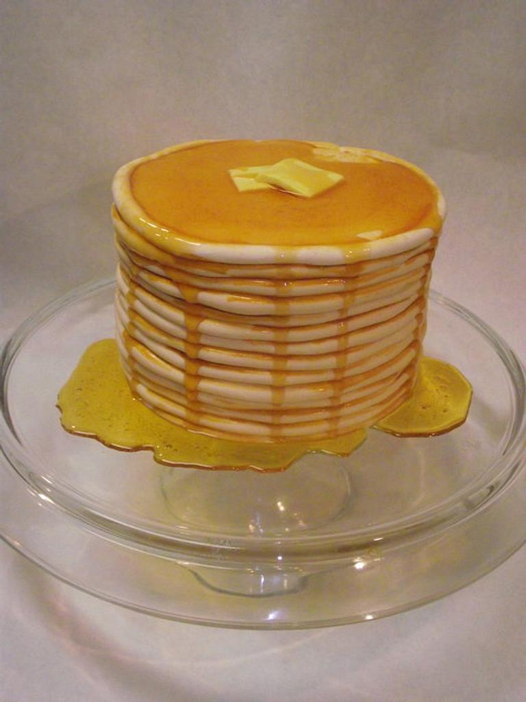 Stack of Pancakes Cake! by Jacque McLean - Major Cakes