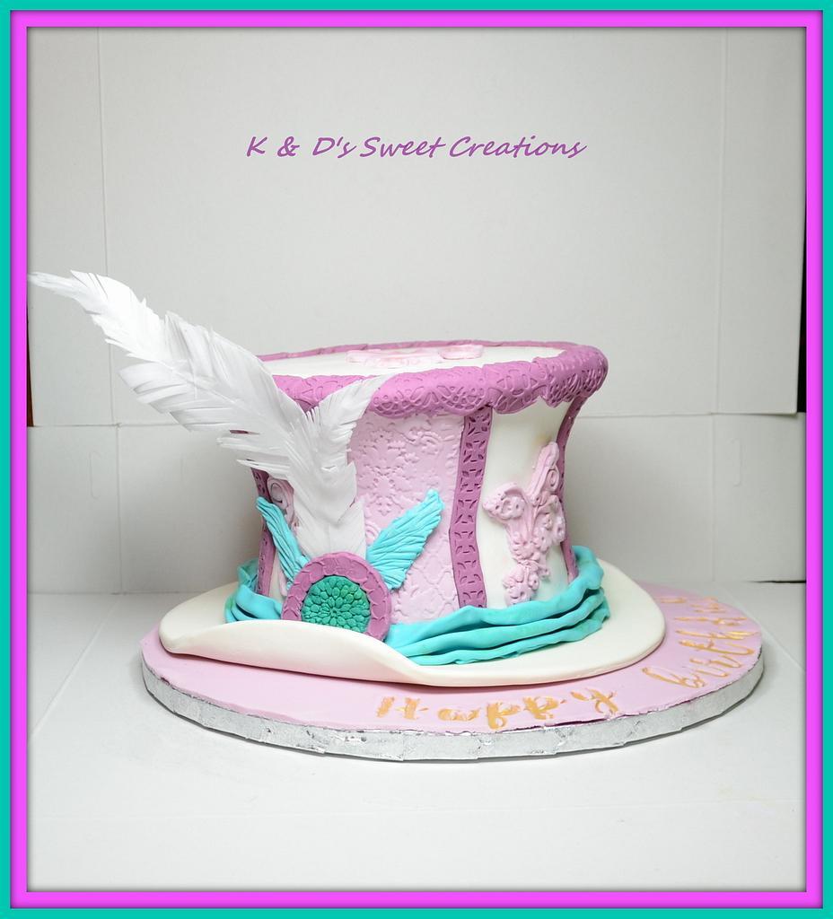 Fancy hat cake by Konstantina - K & D's Sweet Creations