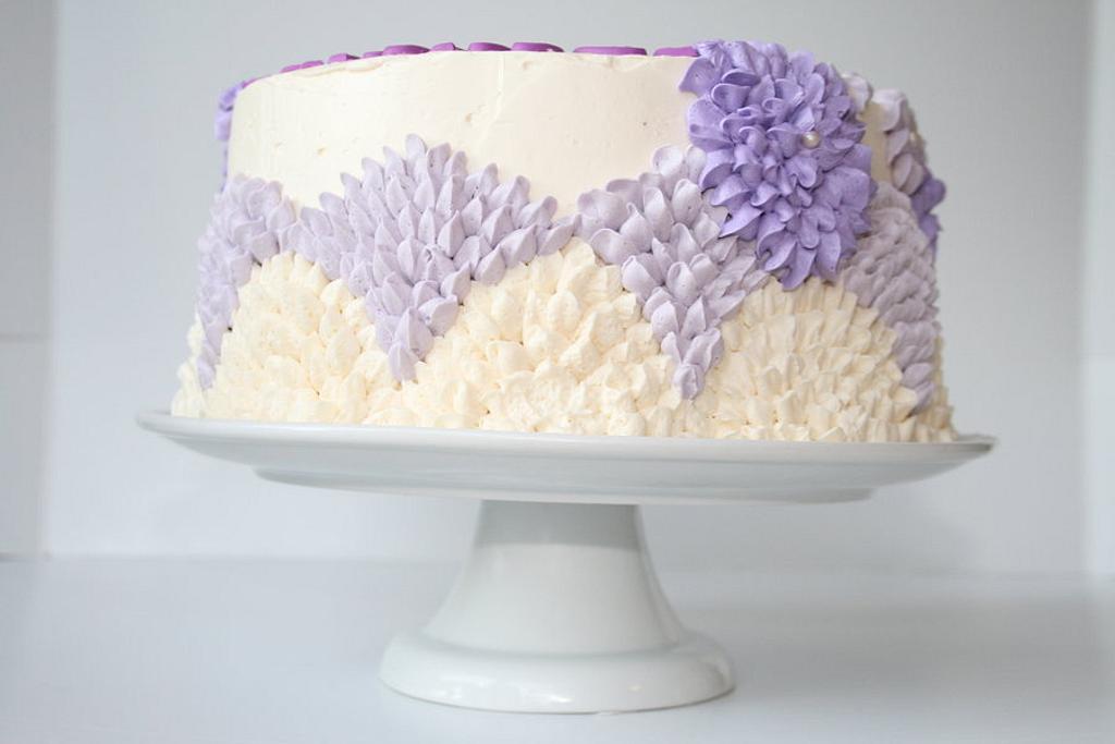 Purple Flower Cake by Rachel Skvaril