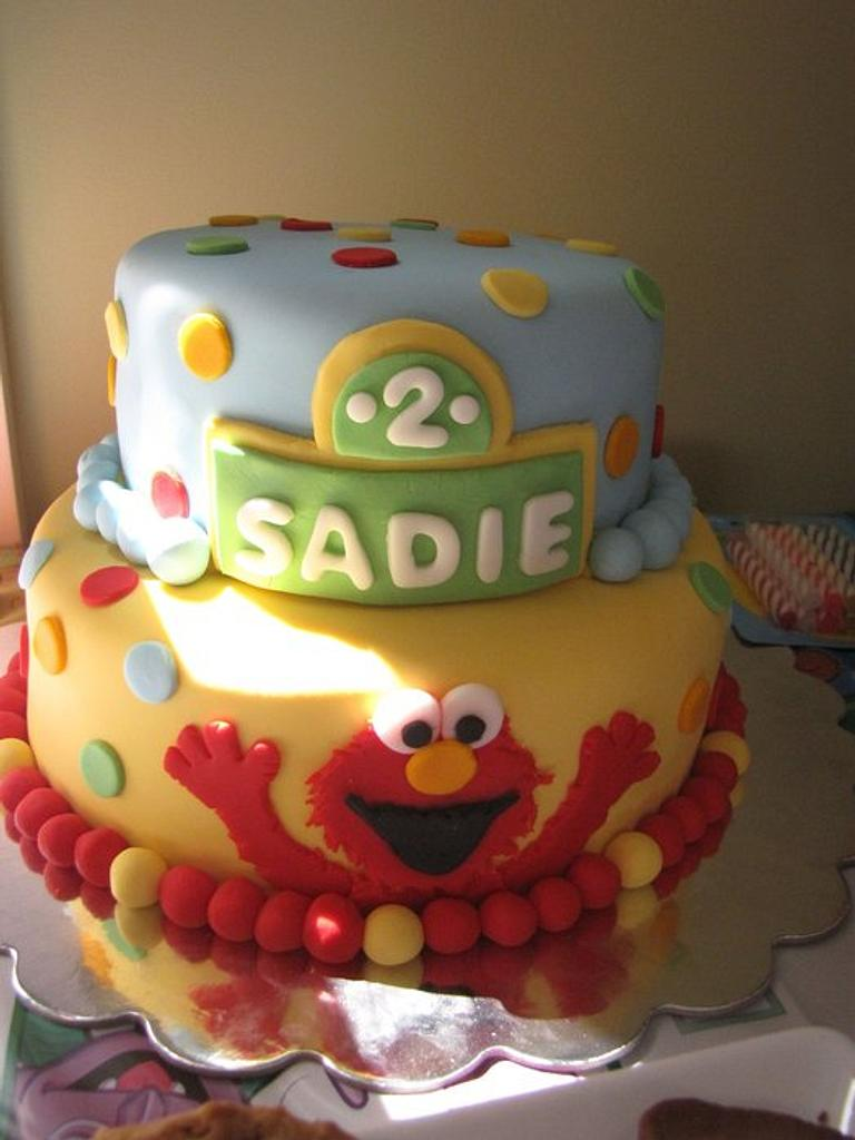 Elmo 2nd Birthday Cake by Laura's Sweet Designs