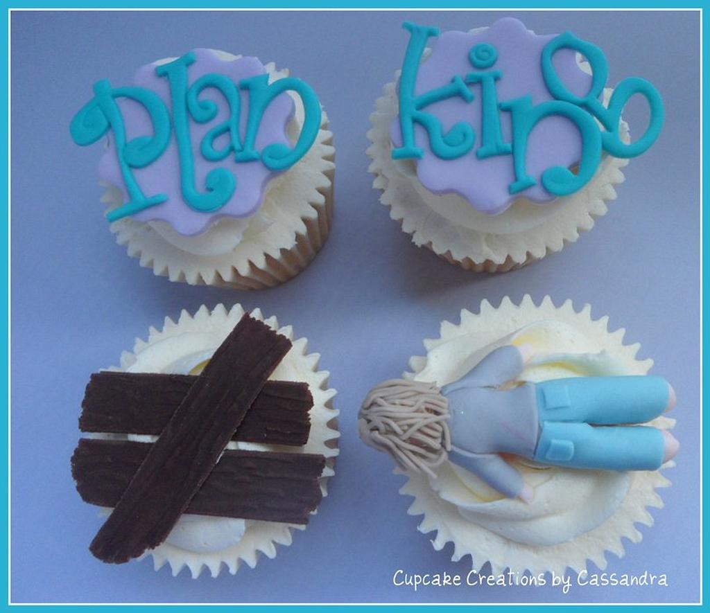 Planking Cupcakes by Cupcakecreations