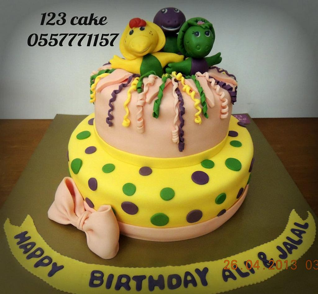 Barney & his friends cake  by Hiyam Smady