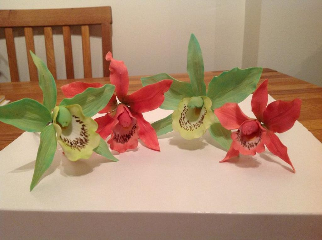 Hand made orchids by Iced Images Cakes (Karen Ker)